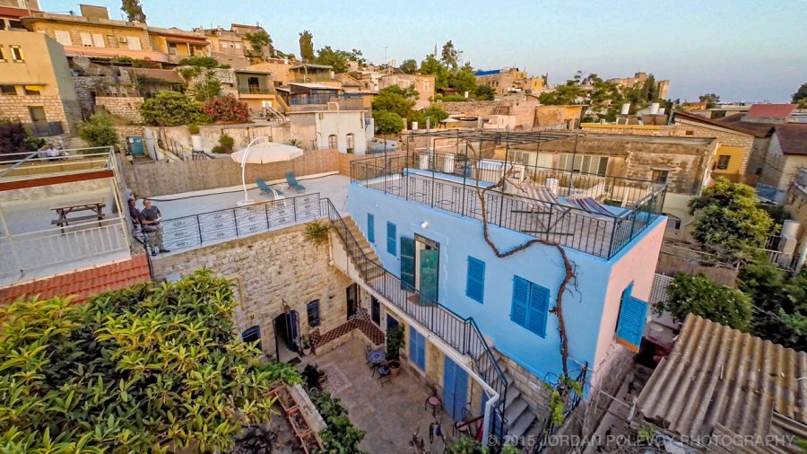 Courtyards and rooftops. Villa Tiferet, Safed, Israel