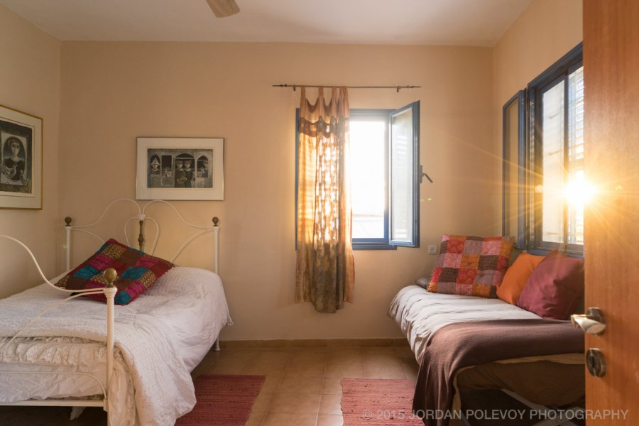 Couple's room upstaris at Villa Tiferet family vacation rental. Safed