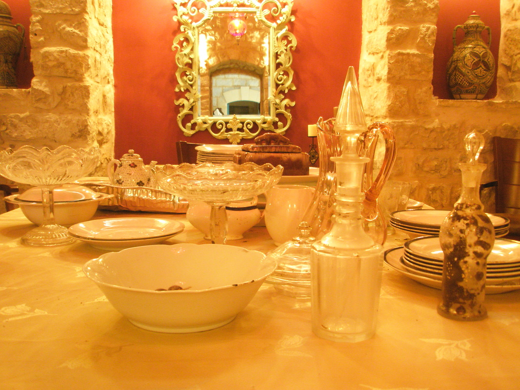 Elegant dining at Villa Tiferet vacation home in Tzfat.