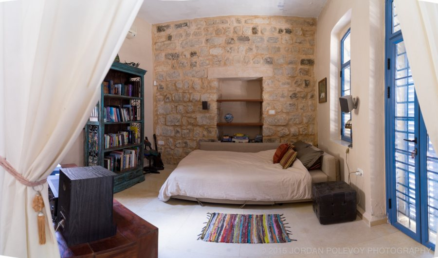 Entertainment room, bedroom, library. All at Villa Tiferet.