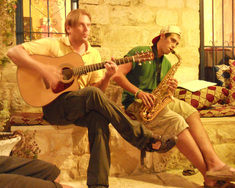 Klezmer Festival Safed. Jamming at Villa Tiferet.