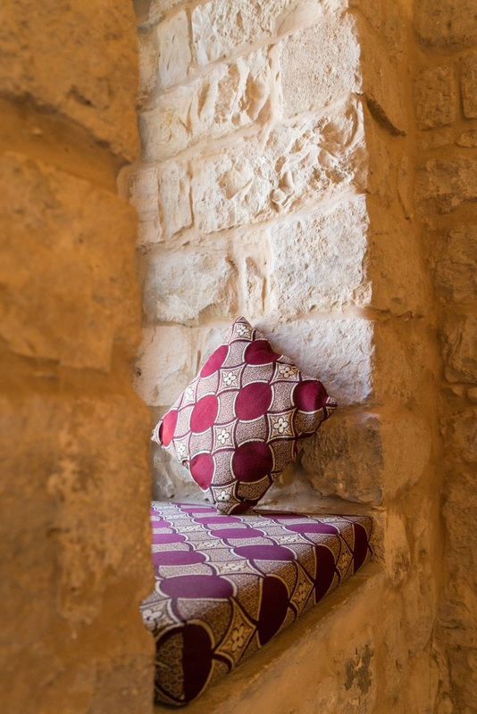 Moroccan fabrics and cozy corners at Villa Tiferet, Tsfat's family getaway.