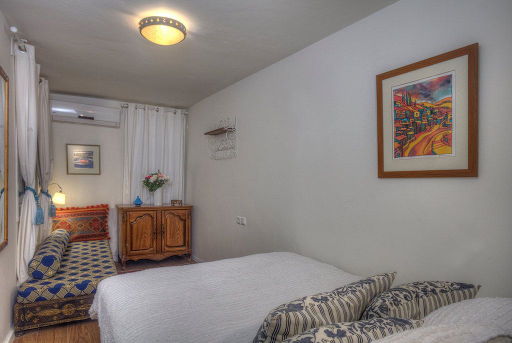 Villa Tiferet in Tsfat also offers private cottage with king-size bed.